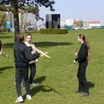 Z braku młotów lucerneńskich wykorzystywano miecze