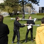 "Fabrice i Curso pokazują techniki z ""Le jeu de la hache"""