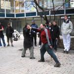 Demonstracja Colina - sztylety