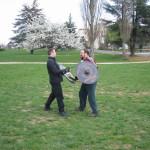 Demonstracja Colina z użycia miecza i tarczy wikińskiej