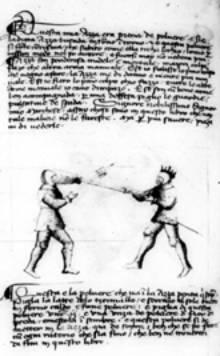 W swoim traktacie Fiore dei Liberi zamieszcza przepis na sporządzenie proszku oślepiającego.