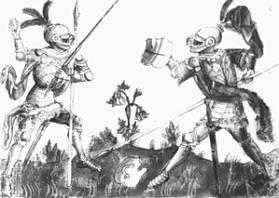 """""""Gladiatoria"""" mówi nam, że zaskoczyć przeciwnika możnapoprzez odkręcenie głowicy od miecza i rzucenie nią."""