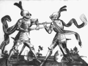 """Walka z opancerzonym przeciwnikiem przy pomocy techniki półmiecza pokazana w """"Gladiatorii"""""""